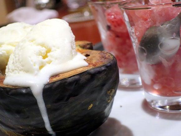 焼き芋&バニラアイス