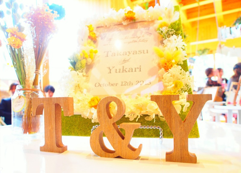 イニシャルブロッグ結婚式