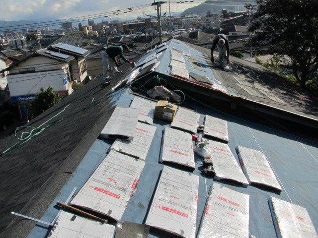 屋根 リッジウエイ 施工