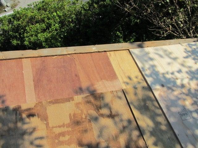 屋根 コンパネ施工