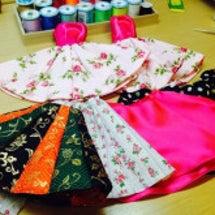 余り布のスカート作り