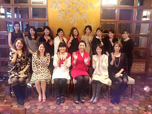 個人起業女子のわくわくクリスマスランチ会参加者