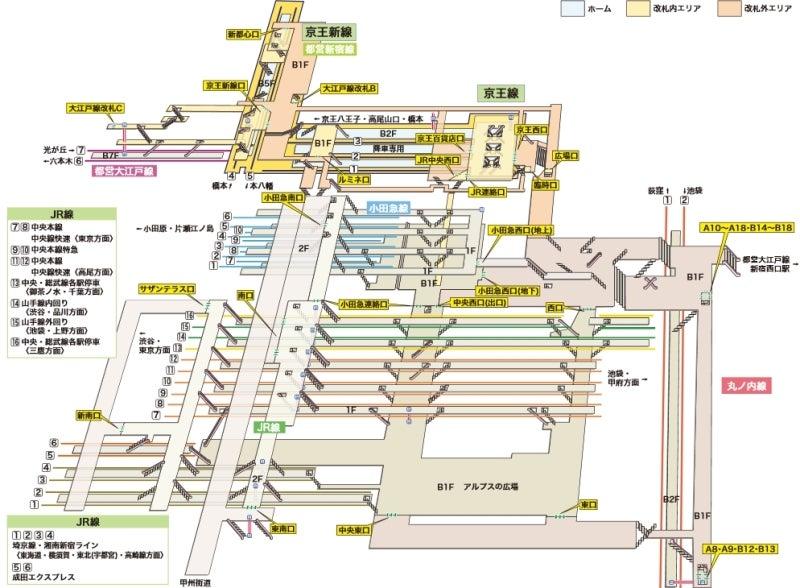 構内図|新宿|駅の情報|ジョルダン