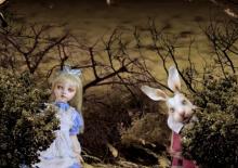 白うさぎとアリス
