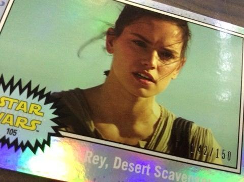 Star Wars Journey To The Force Awakens Base Card #105 Rey Desert Scavenger