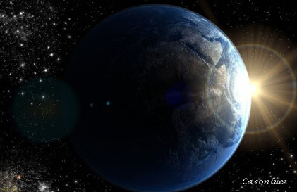 地球光り画像