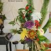 お正月のお花とお正月飾りの画像