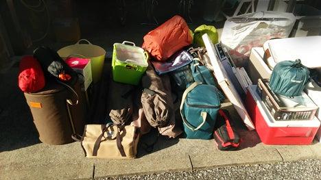 キャンプ用品の収納1