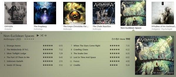 Anthropia - Non-Euclidean Spaces - Tunes