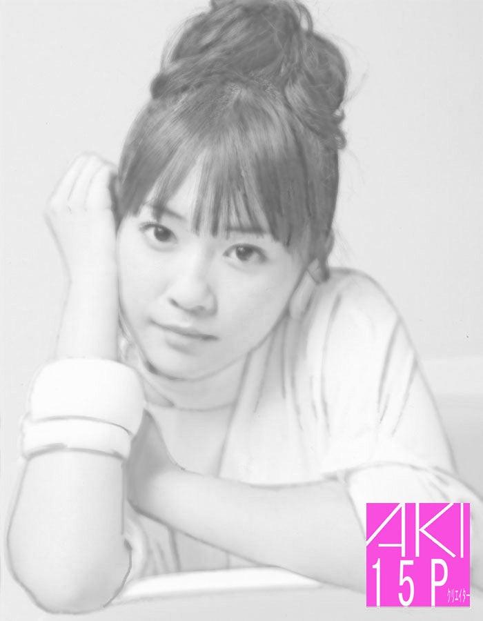 多田愛佳、似顔絵