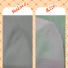 コートの虫穴修理の画像