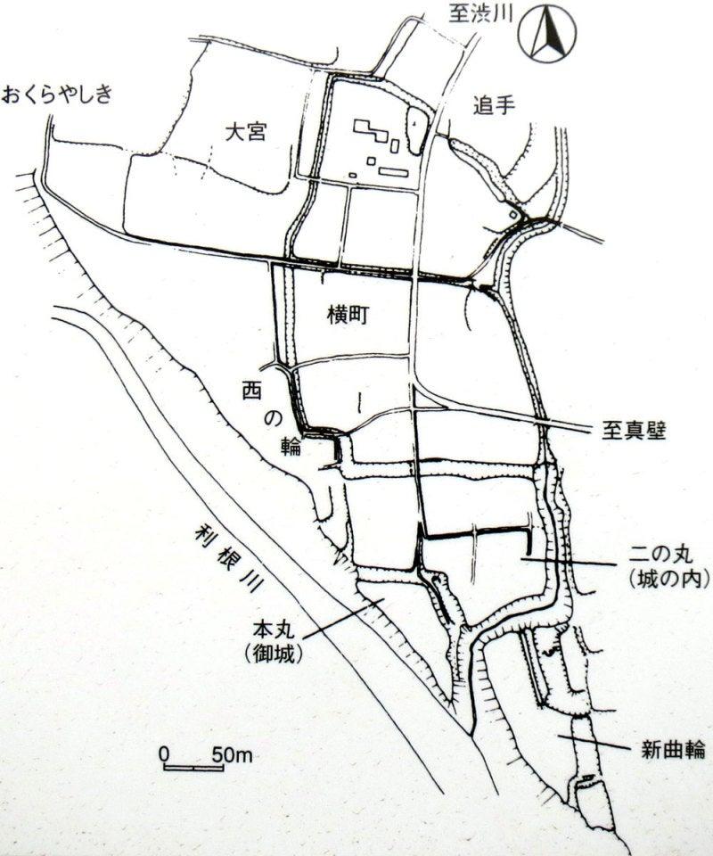 八崎城①縄張図