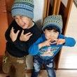 三國さんの編み込み帽…