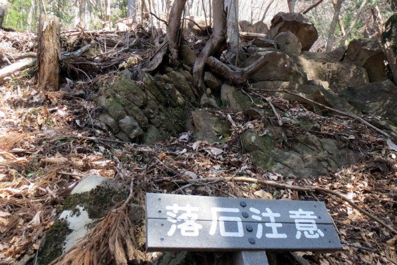 崇山城⑤落石注意