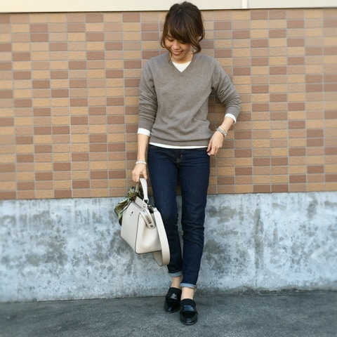美容師 サイトウジュンヤさん チェスターコートを着用 約1万4900円