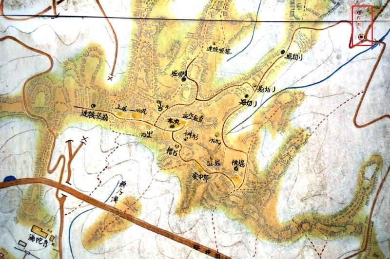 松井田城①案内図