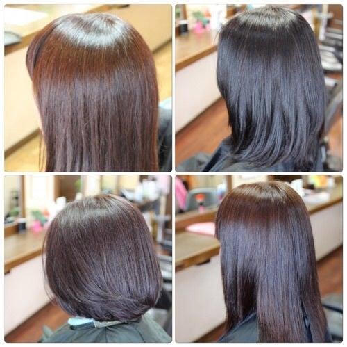 ツヤのあるカラーをするなら伊丹市、川西市、宝塚市の大人の女性が行く美容室ヘアーファクトリーレアポエにお任せ下さい。