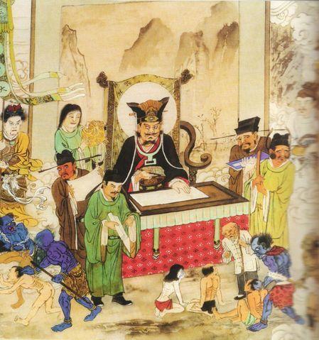 地獄絵図でみる、仏教式地獄   視線
