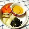 【ゆるベジミキサー】蒸し野菜と海藻の韓国風ごまだれ添えの画像