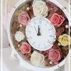 プリザーブドフラワーの花時計 の画像