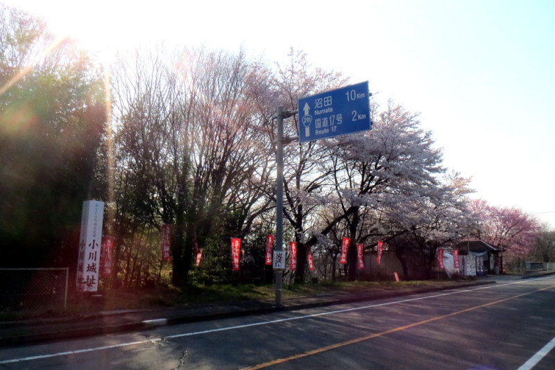 小川城①道沿い
