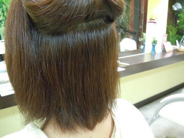 ミコノス縮毛矯正+カラー3