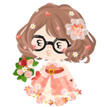 お花付きドレスとブー…
