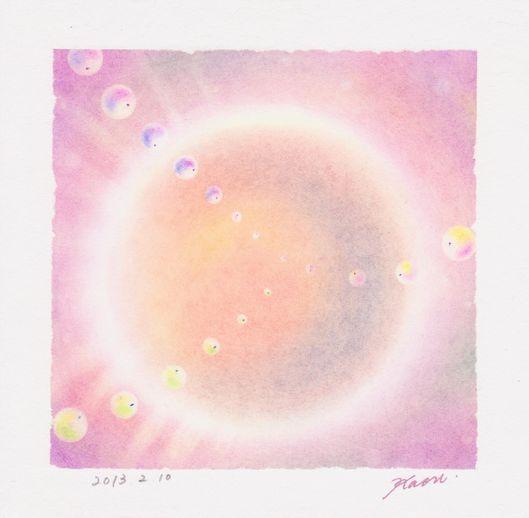 円☆パステル和アート