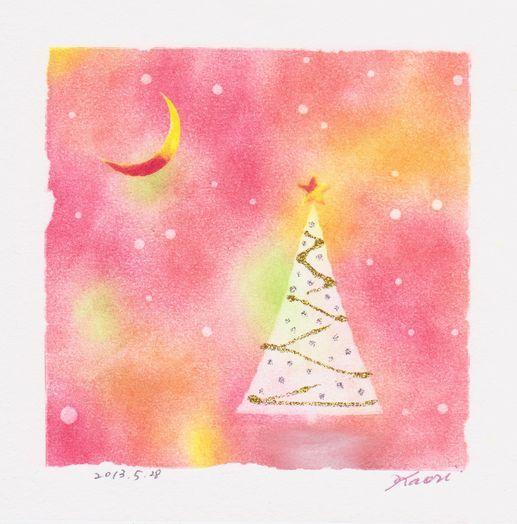 クリスマスツリー☆パステル和アート