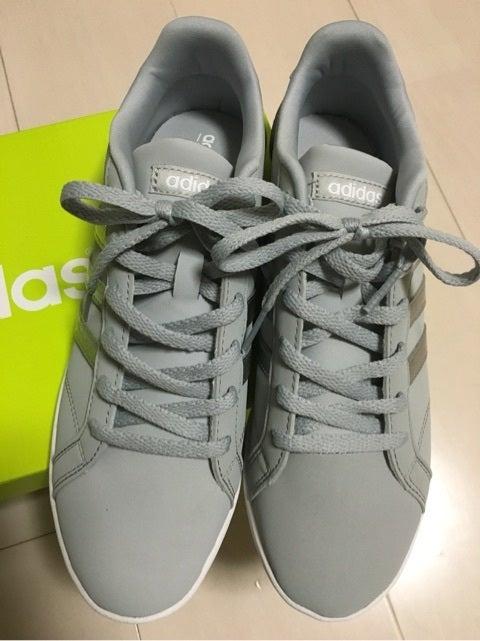 adidas neo スニーカー グレー