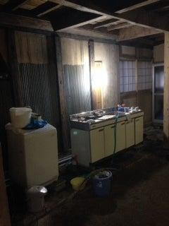 土間仮設キッチン