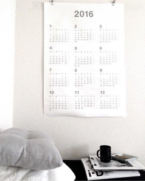 無印良品のポスター カレンダーがシンプルで◎