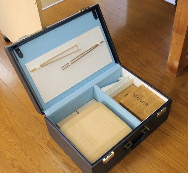 小室かな料紙工房 箔加工道具