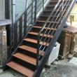 外階段のリフォーム。…