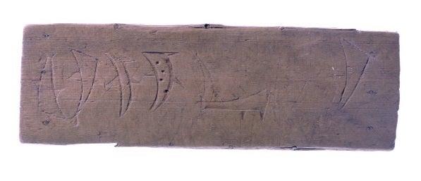 弥生時代中期の銅剣にサメの線刻...