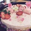 苺のレアチーズケーキの画像