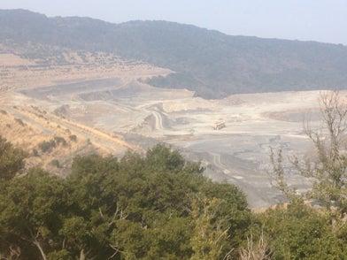 淡路島洲本市の採石場
