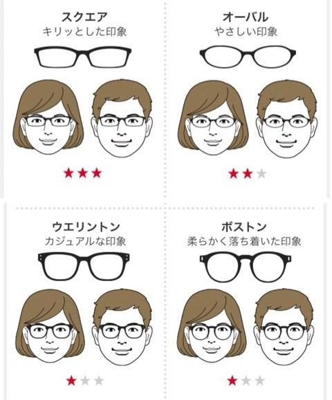 面 長 似合う メガネ