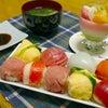 ひな祭りの夕食の画像