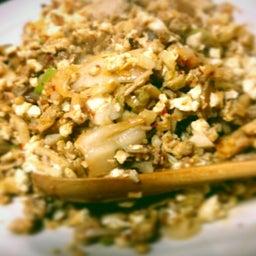 画像 豆腐でキムチチャーハン風 の記事より