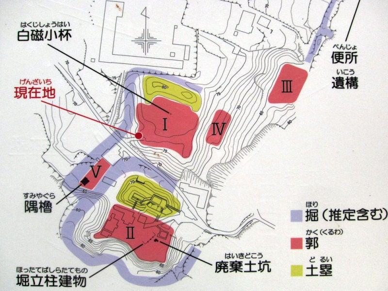 福谷城①案内図