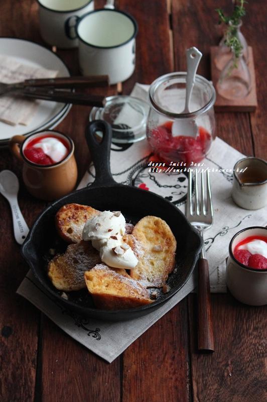 フレンチトースト朝ごはん。