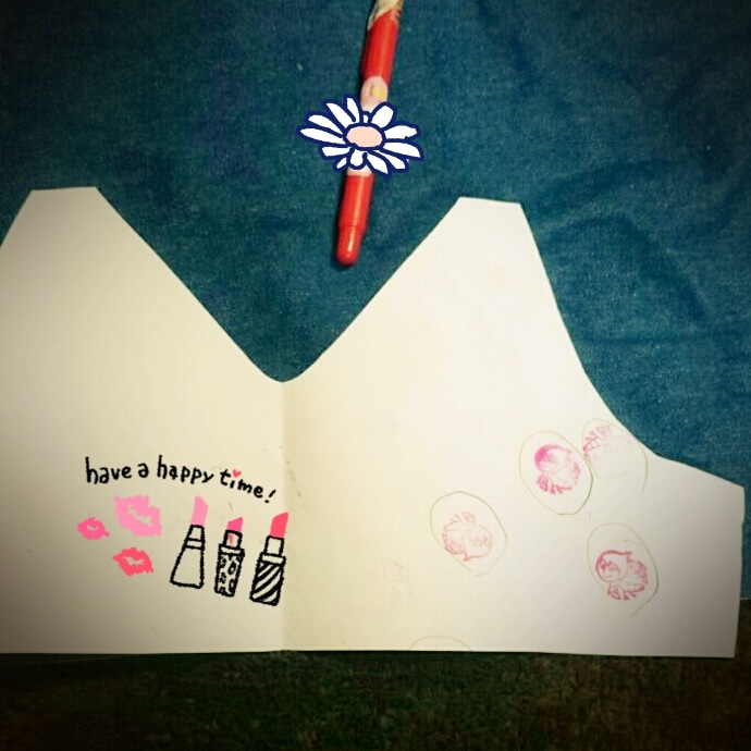 相変わらず、子供のペンと自由帳でテキトーな型紙ww
