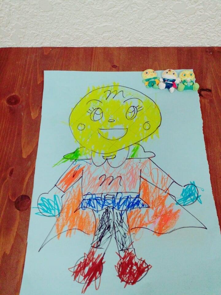 3歳半の塗り絵 うちの子上手です アリスのブログ