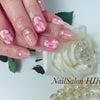 桜色♪マーブル&ヌーデイーネイルの画像