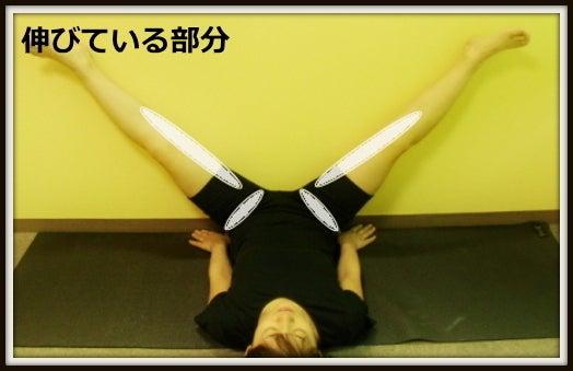 太ももの内側への捻じれ、内巻き膝矯正ストレッチ