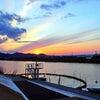 玉野市、鴨川 「春の夕べ」 (児島湾干拓史)の画像