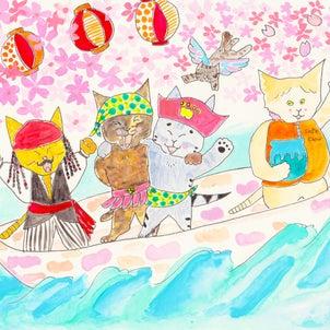4月 目黒川の画像