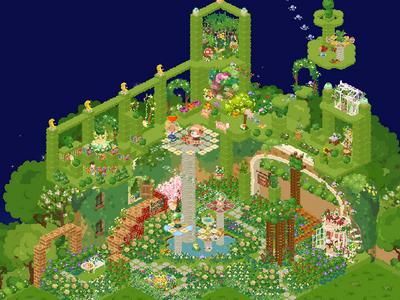 ピグライフ百景ステキ裏庭