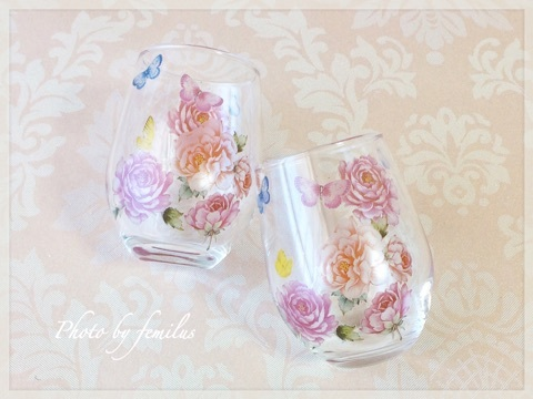 ポーセラーツ 大阪市天王寺 阿倍野区 フェミラス グラス ガラス コップ